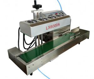 LX6000A Sigillante per induzione continua da tavolo in acciaio inossidabile, sigillatrice a induzione elettromagnetica, vestito per diametro 20-75mm, 220V