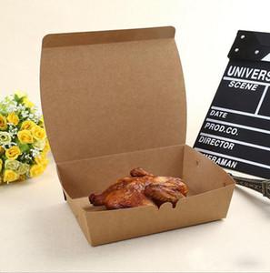 Коробки обеда еды зажаренные бумагой Kraft качества еды устранимые упаковывая для партии ресторана