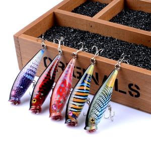 7.8 г 7.5 см камуфляж краска рыболовную приманку Поппер Рыбалка приманка Topwater уровни бионический Рыбалка приманка искусственные приманки