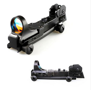 Tactical C-MORE MOA Red Dot Reflex Sight con AR Posteriore Iron Sight Integral Picatinny Mount Black