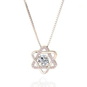 S925 Gümüş Avusturya Kristal elmas Yıldız kolye Bildirimi Kolye Moda Sınıf Kadınlar Kız Lady Swarovski Elements Takı