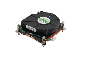 75 * 75 * 10 MM fan LGA1150 / 1155/1156 çift bilyalı rulman 4Pin ultra-ince 1U bakır sunucu radyatör CPU ısı emici 12 V ~ 0.28A