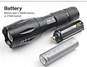 Nouveau puissant X800 LED Flashlight CREE XM-L2 8000 lumens LED lampe de poche zoomable lampe de poche LED Lampe + batterie + chargeur G700 lampe de poche