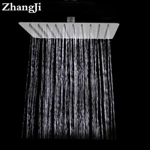 욕실 벽은 큰 rainfall 샤워 헤드를 마운트 10 인치 스테인레스 스틸 square showerhead 간단한 25cm 폭포 상단 샤워 ZJ050