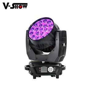 AURA 19x15W RGBW 4in1 Işın Yıkama Moving Head Işık ile Yakınlaştırma Arka Işık Fonksiyonu Led DMX Dj Işık İçin Disco Bar