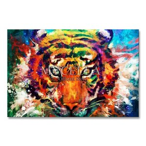 Watercolor tiger 5D diy diamond painting embroidery animals complete mosaic art pictures full square rhinestones home decoration