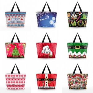 Прочный женщины эко сумка большой емкости рождественские тема сумки с металлической застежкой-молнией сумки новое прибытие 26-й BB