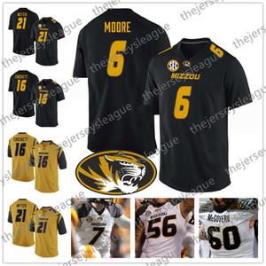 Mizzou Missouri Tigers # 6 J'Mon Moore 16 Damarea Crockett 21 Ish Witter 9 Джереми Маклин Черное белое золото NCAA Футбол для колледжа