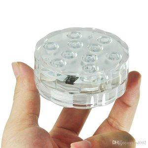 Водонепроницаемый LED семь цвет лампы подводные аквариумы освещение выделить пульт дистанционного управления круглый творческий бассейн новые поставки 10dd ii