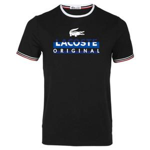 La nueva camiseta de los hombres de la manera 2018 extra cómodo tamaño s-3xl diseñador de lujo pequeño diseño redondo del collar envío libre