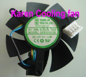 Новый оригинальный молодой LIN DFB501012H графическая карта вентилятор охлаждения 12 в 1.6 Вт двойной шарикоподшипник вентилятор охлаждения