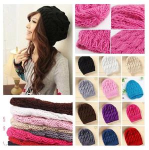 2017 ventas calientes mujeres de la manera de los hombres de punto de invierno caliente sombrero de ganchillo trenzado boina beret gorro