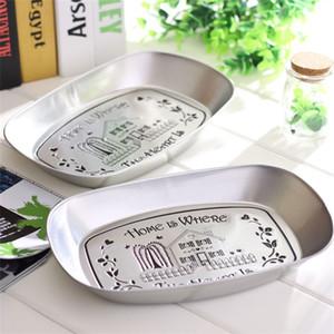 Rétro argenté fer plaque mariage pary faveur créatif plats en fer blanc type de navire maison cuisine plateau de service vaisselle accessoires 4 1zk yy
