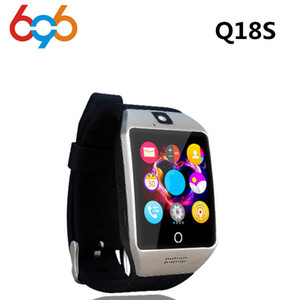 Toptan Yeni Akıllı İzle Q18S Ile Kamera Bluetooth Saatler SIM TF Kart Smartwatch Ios Android Telefonlar Için Destek Çok diller