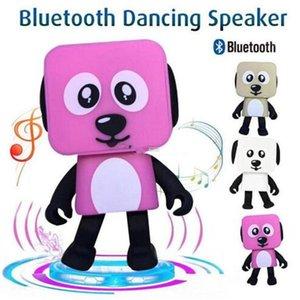 춤추는 개 블루투스 스피커 휴대용 미니 전자 로봇 스테레오 스피커 음악과 함께 전자 도보 장난감 무선 스피커