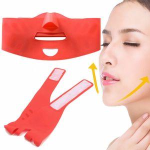Silicona Thin Face Mask 3D V-line Lift Face Vendaje Cinturón Adelgazar Facial Doble Chin Cuidado de la piel Masseter Lifting Slim Beauty Tool