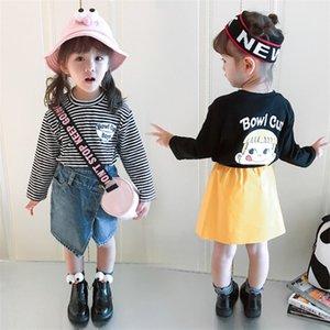 2018 New Spring Autumn Children's Fashion Cartoon Print T-shirt Long Sleeve Round Neck Girl Top Shirt Girl's Clothing