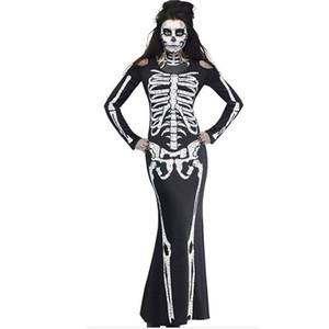 Sexy costumi di Halloween Ghost Festival Horror Scheletro Abiti siamesi Party Performance Dress Cosplay Abbigliamento Donna Nuovo