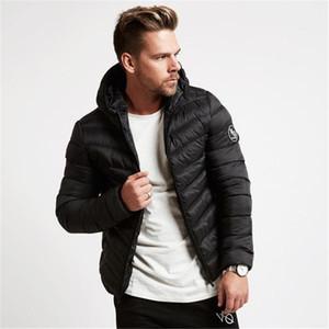 2018 Yeni Erkekler Kış Ceket Moda Gri Siyah Pike Erkekler Kapşonlu Suit Kalın Sıcak Ceket Kış erkek Kısa Ceket Moda 2018 Yeni Fermuar Sıcak