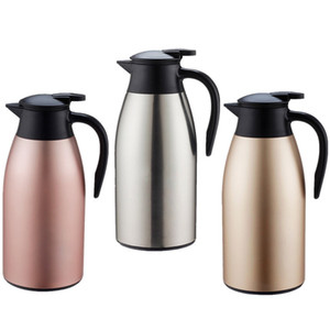 2.1L / 71 oz. Jarra de café Vacío de doble pared Caliente y fría Aislada Jarra térmica, Botella de agua mate de acero inoxidable Caldera