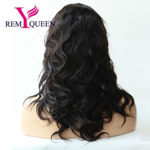 Реми Королева бразильский роскошный тела волна полный парик кружева для черных женщин 130% плотности дешевле цена двойные узлы