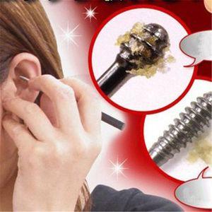 Nuevo 1 UNIDS Orejadores de cera de oído Selecciones de oído de acero inoxidable Eliminación de cera Cureta Removedor Herramienta de cuidado de oído EarPick Herramientas de belleza facial