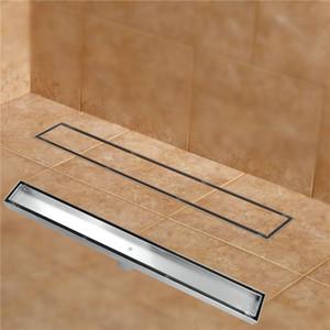 304 из нержавеющей стали 60см Tile Вставить прямоугольный линейный против запаха трап ванной аппаратный невидимый душ 11-208
