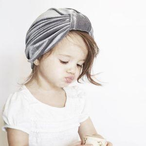 Ins Autumn Winter Infant Baby Pleuche Hat Knot Turban Knot Headwrap Hats Girls Infant Hats Kids Cap Beanies 9 Colors 14332