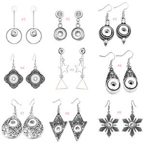 9 Optionen Noosa Brocken 12mm Ingwer Snap Ohrringe Schmuck Vintage Silber Snap Button Ohrringe Fashion Snap Ohrringe Frauen Person Geschenk
