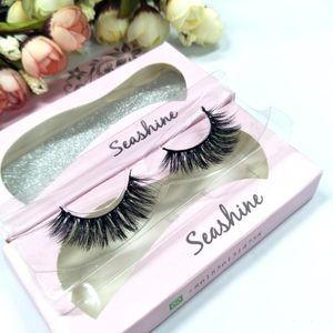 Seashine Lashes Premium Quality Mink Faux Cils Naturellement Désordonné Bouquet Faux Cils Mode Vrai Cheveux Croix Faux Cils Maquillage