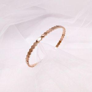 beautiful accessories new fashion bracelets honeycomb geometric smooth stainless steel bracelet women bangle jewelry womens jewelry 2020