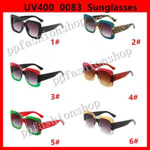 0083 Popüler Güneş Lüks Kadın Marka Tasarımcısı 0083 S Kare Yaz Tarzı Tam Çerçeve En Kaliteli UV Koruma Karışık Renk Kutusu Ile Gel
