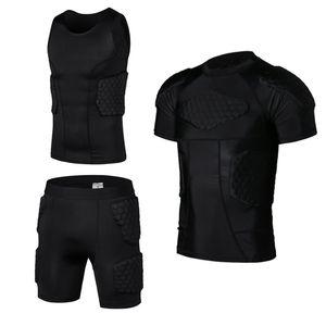 Honeycomb Pad Soccer Rugby Basketball Jersey Armor Vest Shorts T-shirt Anti Crash Sportwear Sport Safety Men's clothing