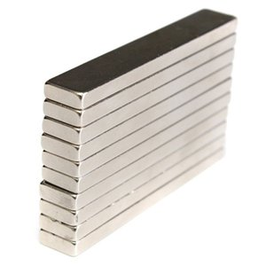 5pcs magneti al neodimio N50 Block Rare Strong Mm 60x10x4 Super Terra Cuboid Magneti Pkjpi