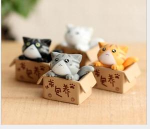 Искусственная кошка милые животные сказочный сад миниатюрный Гном Мосс террариум декор смолы ремесла бонсай домашнего декора для DIY Закка дети подарок