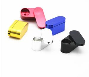 Tabaco de metal de fumar rotación del tabaco Mano doblar mono tabaco proto tubos de filtro a base de hierbas con herramientas de malla Accesorios 5 color