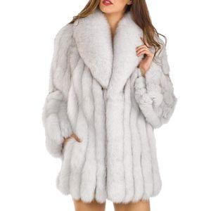 S-4XL 밍크 코트 여성 2018 겨울 새로운 패션 핑크 가짜 모피 코트 우아한 두꺼운 따뜻한 가짜 모피 자켓 Chaquetas Mujer 겉옷