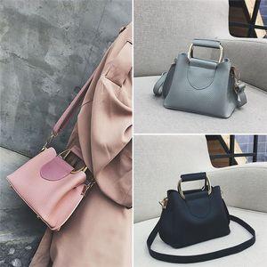 Pure Color One Shoulder Small Messenger Bag Mobile Phone Bag Purse Quality PU leather Women's Totes Shoulder