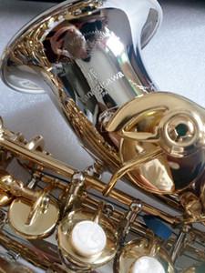Yanagisawa SC-9937 Pequeño cuello curvo B Instrumento de marca de saxofón soprano de latón niquelado plano para estudiantes con estuche