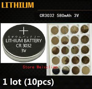 10pcs 1 lot CR3032 3V lithium pile au lithium ion bouton pile CR 3032 3 volts li-ion piles de la pièce livraison gratuite