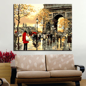 Picture By Numbers France Street Diy Painting By Numbers Modern Wall Art Picture By Numbers Painting & Calligraphy For Gift