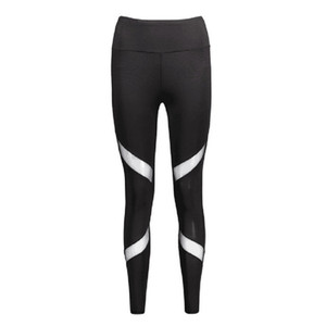 Quick-drying Net Yarn Yoga Pants Black High Waist Elastic Running Fitness Slim Sport Pants Gym Leggings for Women Trousers