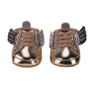 YENI Kanatları Tasarım Bebek Ayakkabıları Kaymaz İlk Walkers Çocuklar PU Deri Prewalker Yumuşak Taban Ayakkabı