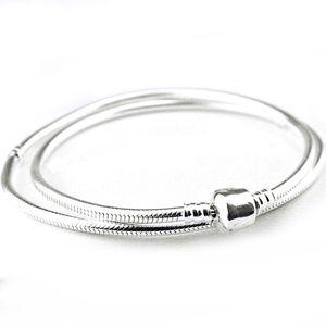 Autêntico 925 Sterling Silver Colar de Lagosta Barrel Fecho Serpente Cadeia Colar Para As Mulheres Presente de Casamento Fine Pandora Jóias