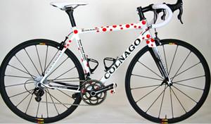 Colnago C59 Diy Karbon Kırmızı nokta Yol Tam Bisiklet / Komple Bisiklet Ultegra R8000 Groupset 38mm karbon tekerlek