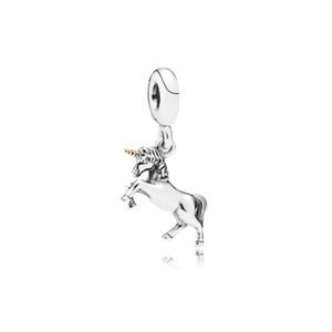 Единорог мотаться уникальный шарм бисера большое отверстие мода женщины ювелирные изделия европейский стиль для DIY браслет ожерелье