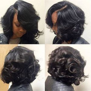 Side Part Bob Wig Full Lace Front Wig 100% Human Peruvian Virgin Hair Body Wave Full Lace Wigs