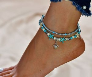 10pcs lot Shell Starfis Charms Ankle Anklet Bracelet Barefoot Sandal Beach Foot NEW Wholesale