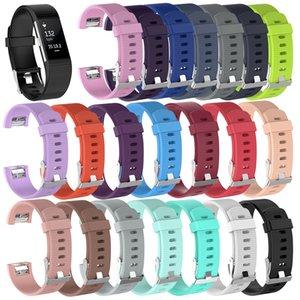 Para las bandas de Fitbit Carga 2 cargo2 muñeca TPE correas usable venda de la pulsera de reemplazo inteligente pulsera de silicona 21 colores