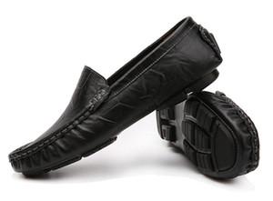 Plus Size 37-48 Deslizamento em Couro Genuíno Dos Homens Feitos À Mão Mocassins Homens Mocassins Casuais Masculino Escritório Sapatos Mocassins Zapatos Hombre dh2H15